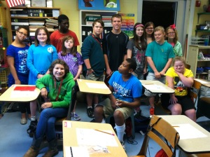 Grace Rush's class at Pepperell Middle