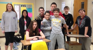 Pepperell Middle 7th graders learned how to write checks