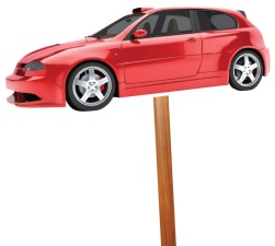 car-on-stick